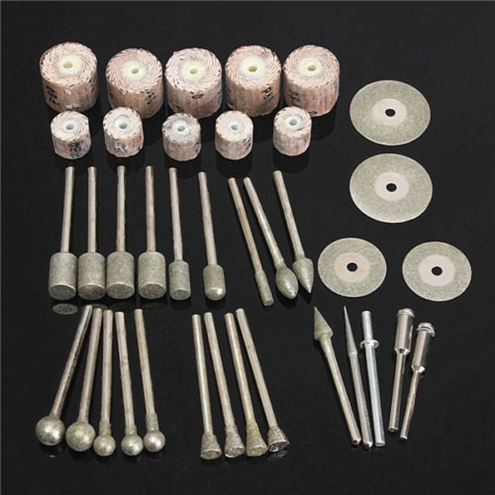 38pcs Assorted Sanding Grinding Polishing Rotary Tool Accessory Set for Dremel dental kerr finishing polishing assorted kit occlubrush cup brushes