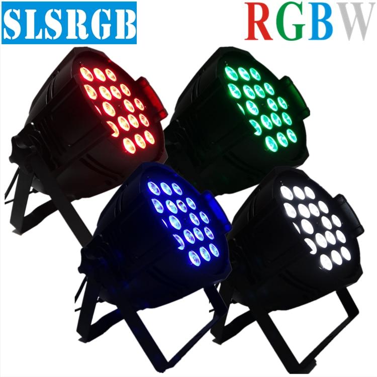 (4PCS) Par64 Led Par Light 18Pcs 12W 4in1 Quad Color RGBW Led Par Can DMX 8Chs 18x12w full color 4in1 led quad par can light 4x lot freeshipping adj 7 12w 4in1 quad leds rgba rgbw mega quad led par profile dmx led par can american stage light