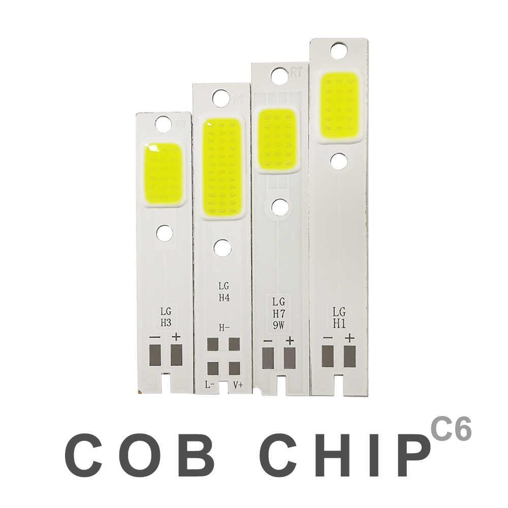 10 pcs H1 H3 H4 H7 H11 9005 COB LED שבב עבור C6 רכב פנס נורות קר לבן COB שבב מקור אור LED מנורה אוטומטי פנס רכב