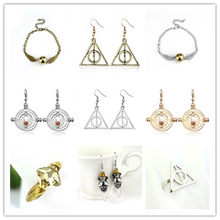HP Hermione Time Converter Deathly Hallows Magic Earrings Rings Bracelet Jewelry Action Figure Cosplay Toys(China)