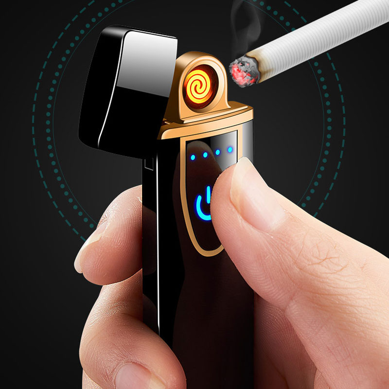 New Touch Screen Induction Cigarette Lighter Compact Intelligent Induction USB Charging Lighter