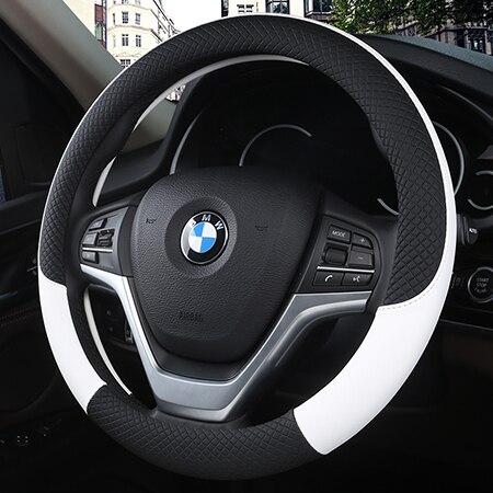DERMAY Leather Universal Car Steering-wheel Cover 38CM Car-styling Sport Auto Steering Wheel Covers Anti-Slip