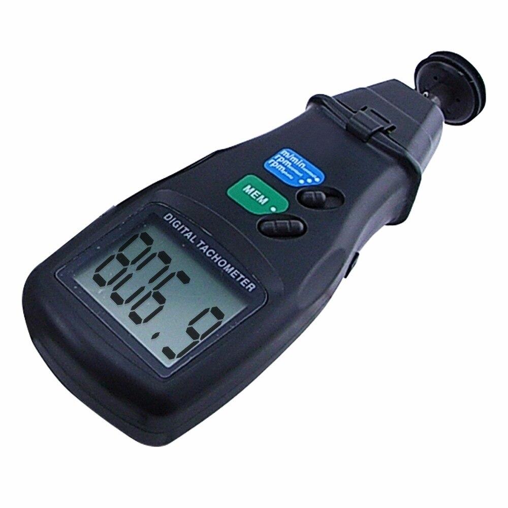 Portable Digital 2 in 1 LASER Sensor Photo & Contact Tachometer Tach  99,999 RPM Range uni t ut372 non contact laser tachometer with measuring range 10 to 99 999 rpm