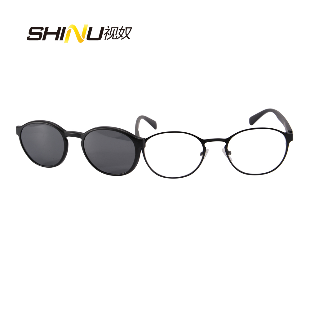 df90f315f6 New retro round Clip on sunglasses Polarized Light Super Optical Glasses  Frame Driving Night Vision Lens Dual Purpose 9912-in Sunglasses from  Apparel ...