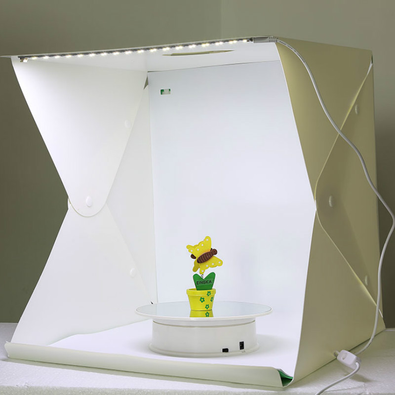 40 X 40 X 40 Cm Photo Studio Box Photography Backdrop Built-in Light Photo Box Little Items Photography Box Studio Accessories