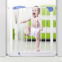 Ограждение для безопасности ребенка питомца собаки Дверь ворота лестницы дверь подходит для нескольких ширины высокопрочные железные ворота для защиты детей