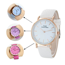 Fashion Brand Simple Watches Women Discolor Watch Ladies Qua