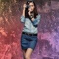 Сексуальный Mini деним юбка, Женщины в деним юбка пакет бедра джинсы юбки N005