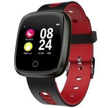 цена на GIAUSA Bluetooth Smart Watch OLED Color Screen Waterproof Silicone Wrist Band Heart Rate Monitor Sport Watch Fitness Tracker