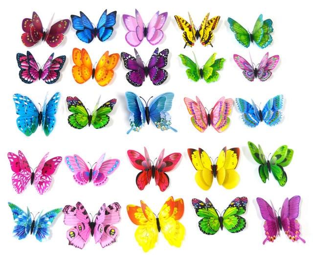 10pcs  Artificial Butterfly Luminous Fridge Magnet for Home Christmas Wedding Decoration 6
