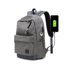 Men Canvas Backpack 15.6 Inch USB Charging Computer Backpacks Laptop Notebook Mochila Back Pack Travel Backbag School Backpack стоимость