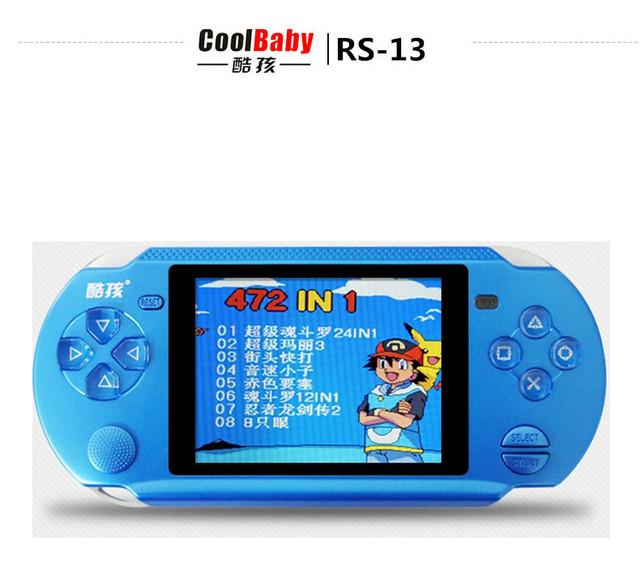 Original Coolbaby RS-13 DEL apoyo consola de Videojuegos 3.8 pulgadas reproductor de juegos portátil AV Externo maneja jeux 8BIT envío gratis