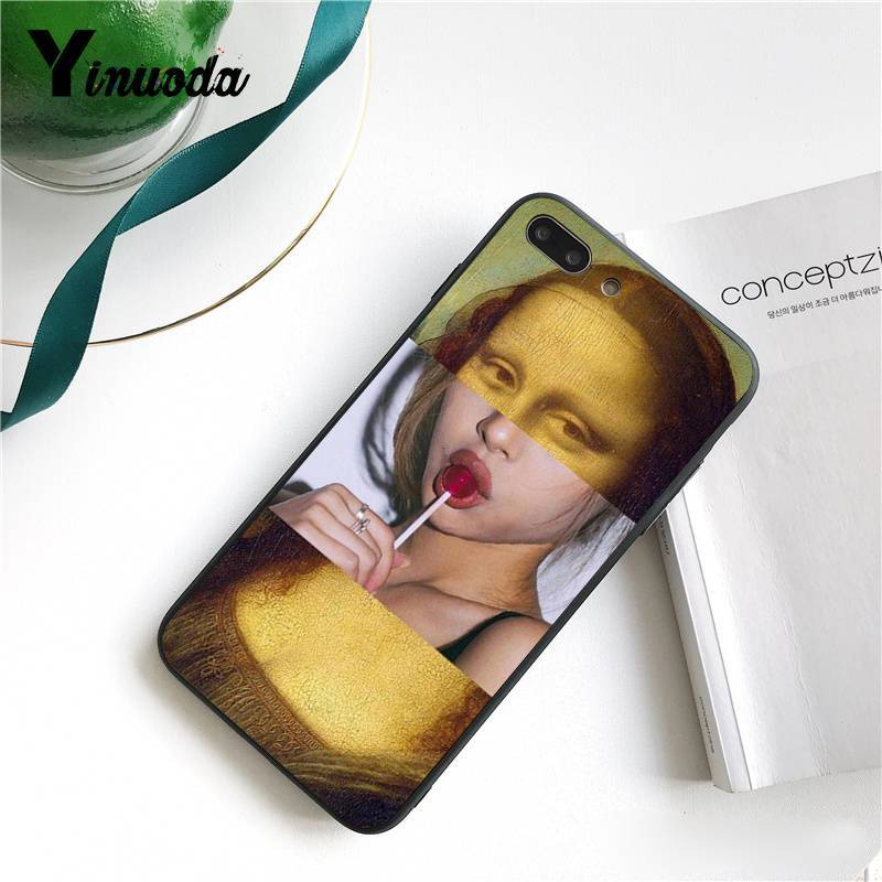 Yinuoda Newest special edition art David sculpture TPU Black Phone Case for iPhone 8 7 6 6S 6Plus X XS MAX 5 5S SE XR 10 Cover in Half wrapped Cases from Cellphones Telecommunications