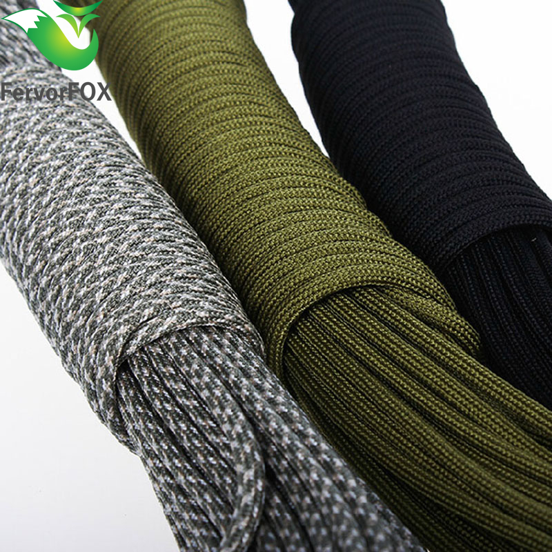 цена на 33FT(10M) Paracord Parachute Cord Lanyard Rope Mil Spec Type III 7 Strand Climbing Camping survival equipment