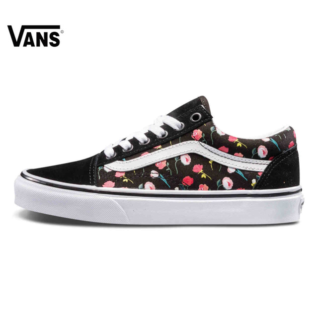 32d1ac57196c New product Vans Ladies Classic Floral Low Cut Skateboard Outdoor Canvas  Comfortable Casual Shoes Sports Shoes
