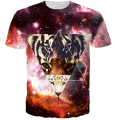 Tiger tee shirt Crewneck tshirt print women/men's galaxy t shirt casual mens 3d graphic t-shirt plus size M-XXL Free shipping