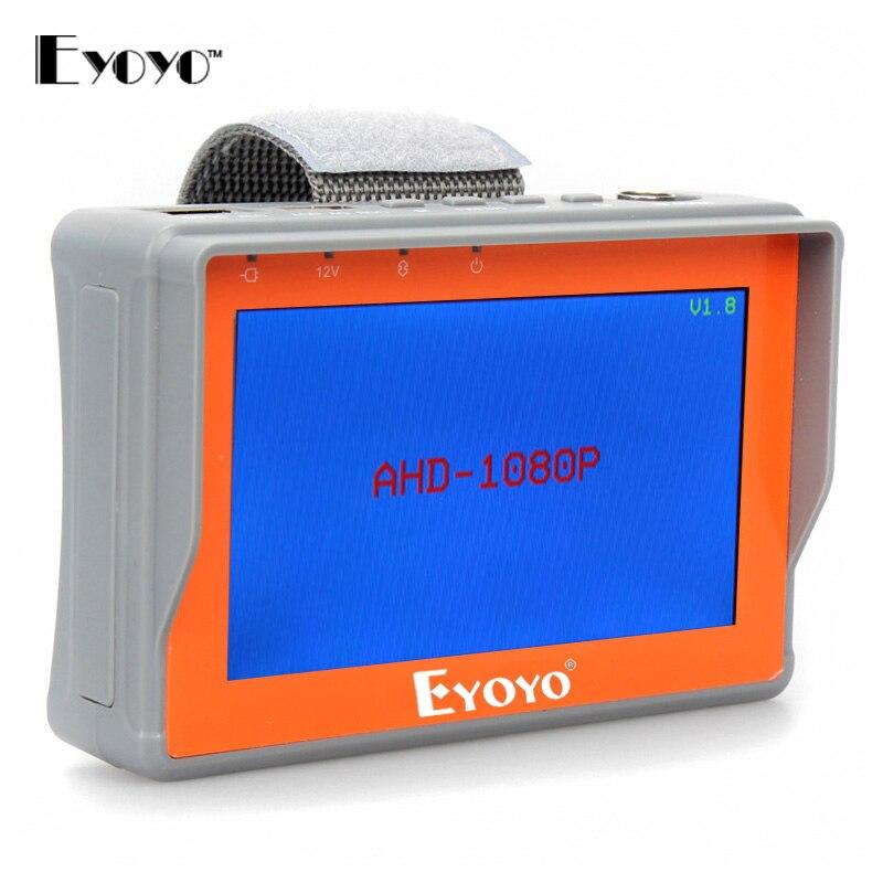 bilder für 4,3 zoll hd ahd kamera tester cctv tester monitor ahd 1080 P 720 P AHD Analog Kamera Testing Utp-kabel Test 5 V/2A, 12 V/1A Ausgang