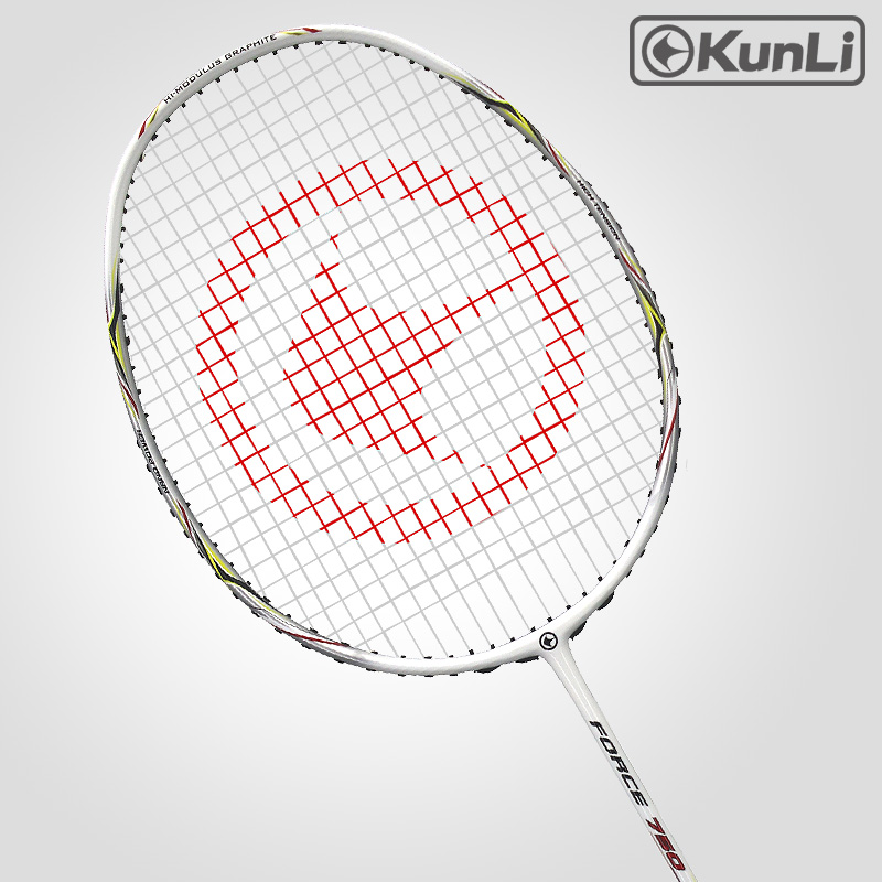 Original KUNLI Badminton Racket FORCE 750 Full Carbon 3U Professional TB NANO Technology Official Brand Racket Attack Racket