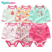 kiddiezoom 6Pcs/lot Baby Girl Newborn Boy Bodysuits Infant