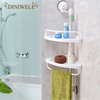 DINIWELL Wall Mounted Kitchen Spice Organizer Shelf Rack Suction Cup Rack Cup Spice Storage Rack Shelving Wall Bathroom Shelves