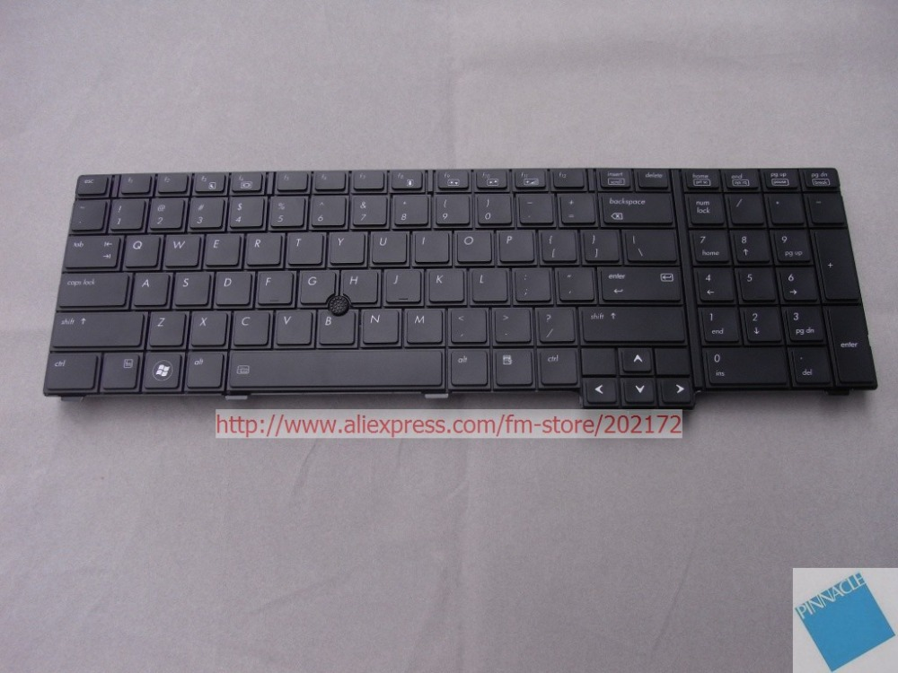 Brand  New  Black  Laptop  Notebook Keyboard  597581-001 598045-001 6037B0046601  For  HP   Compaq  8740W series
