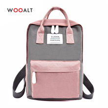 Women Canvas Backpacks Candy Color Waterproof School Bags for Teenagers Girls Laptop Backpack Patchwork Kawaii Backpack Rucksack недорго, оригинальная цена