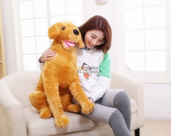 Fancytrader 37\'\' 95cm Lovely Soft Cute Plush Giant Emulational Brown Dog Toy, Free Shipping FT50191(11)