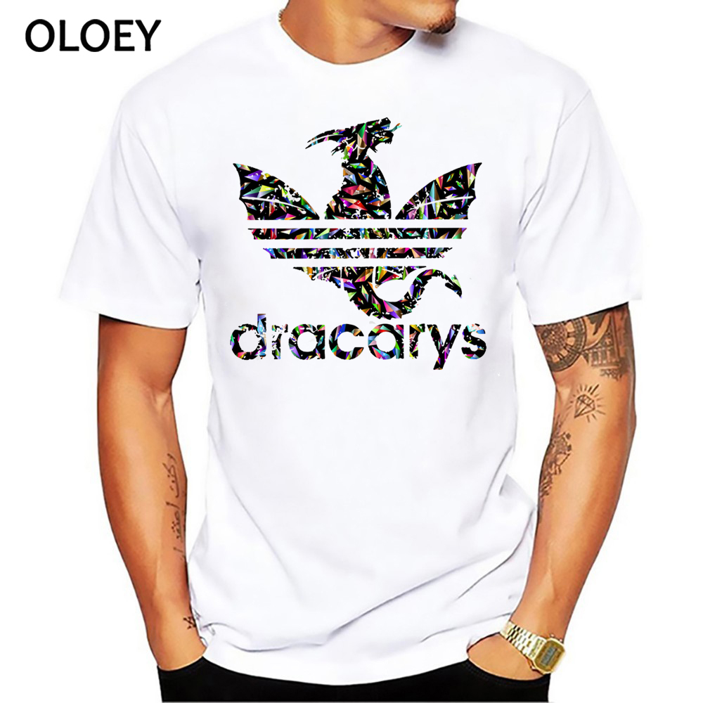 Dracarys Dragon   T     Shirt   Mother of Dragons Vintage Flower   T  -  Shirt   Khaleesi Clothes for Men Harajuku Game of Thrones Graphic Tees