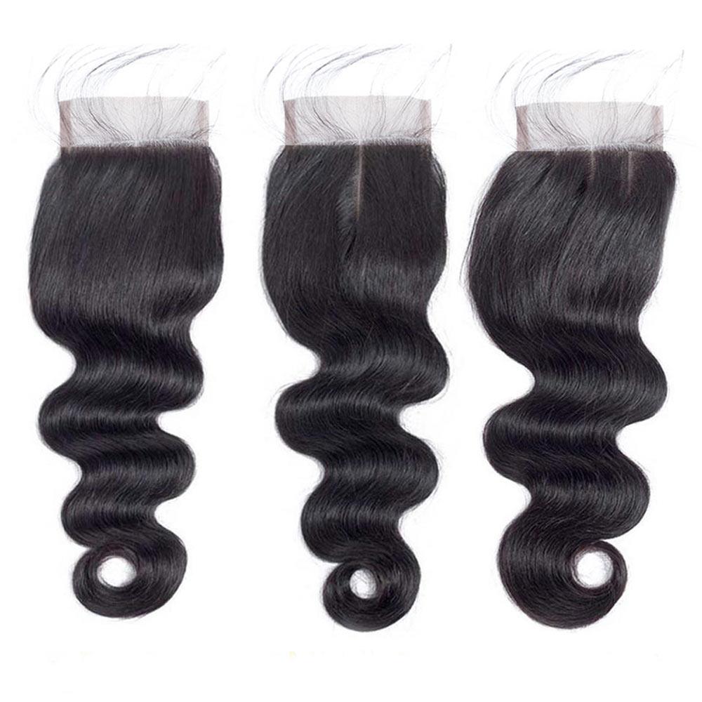 Uneed Remy haarbundels met sluiting 3/4 bundels Braziliaanse body - Mensenhaar (voor zwart) - Foto 4
