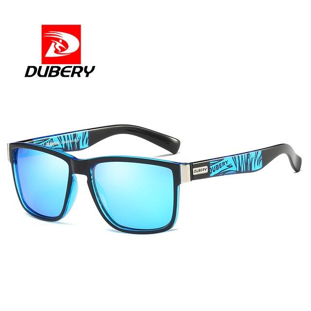 14f4186d8df1c DUBERY Revestimento Quadrado Moda Masculina Verão de Design Da Marca Óculos  De Sol Dos Homens Polarizados