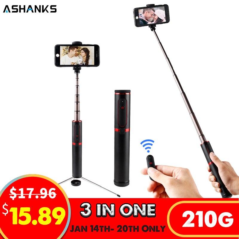 ASHANKS Bluetooth Selfie Stick Mini Stativ 3 in 1 Einbeinstativ Selfie Stick Wireless Fernauslöser für Android Iphone X/ 8/8 plus/7/6