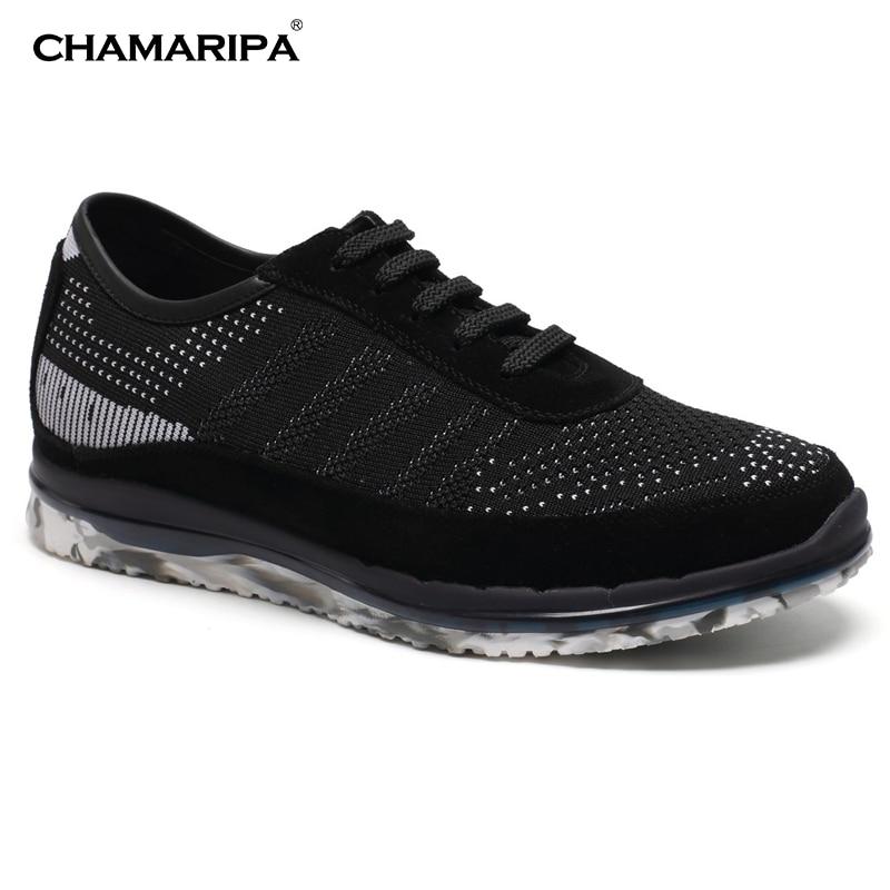 CHAMARIPA Elevator Shoe Men 6cm/2.36 inch Height Increase Lifting Sneaker Make Men Taller Hidden Heel H62C22K033D кастрюля taller tr 1083