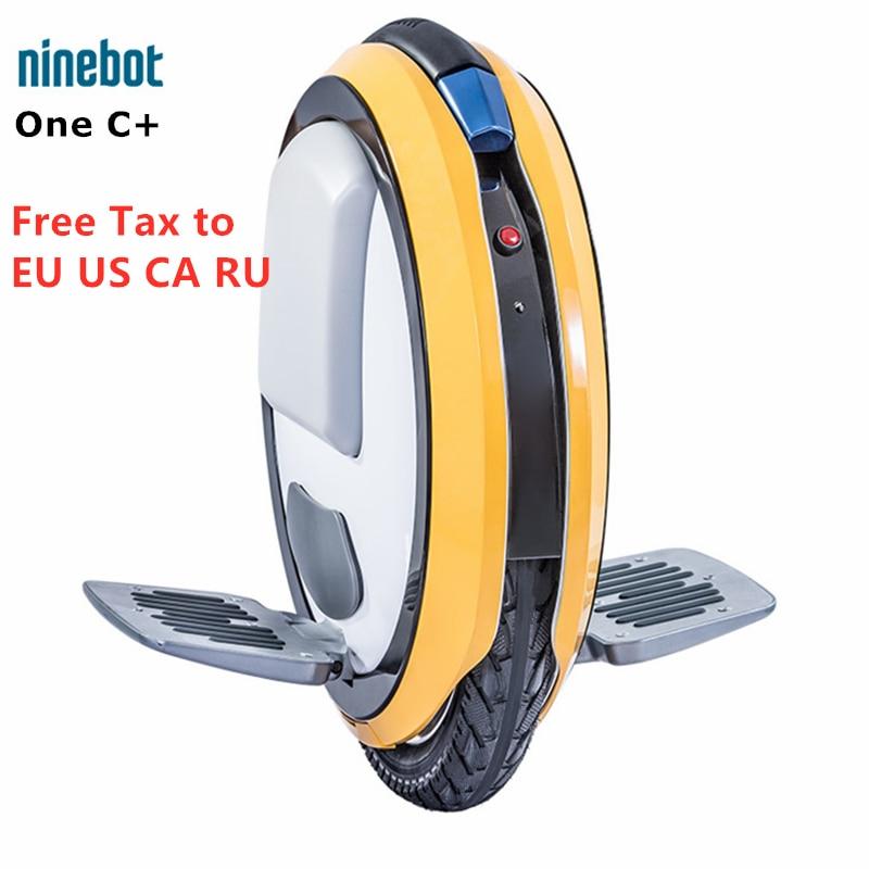 Scooter électrique intelligent d'équilibre d'individu de monocycle de Ninebot un C + 20 km/h
