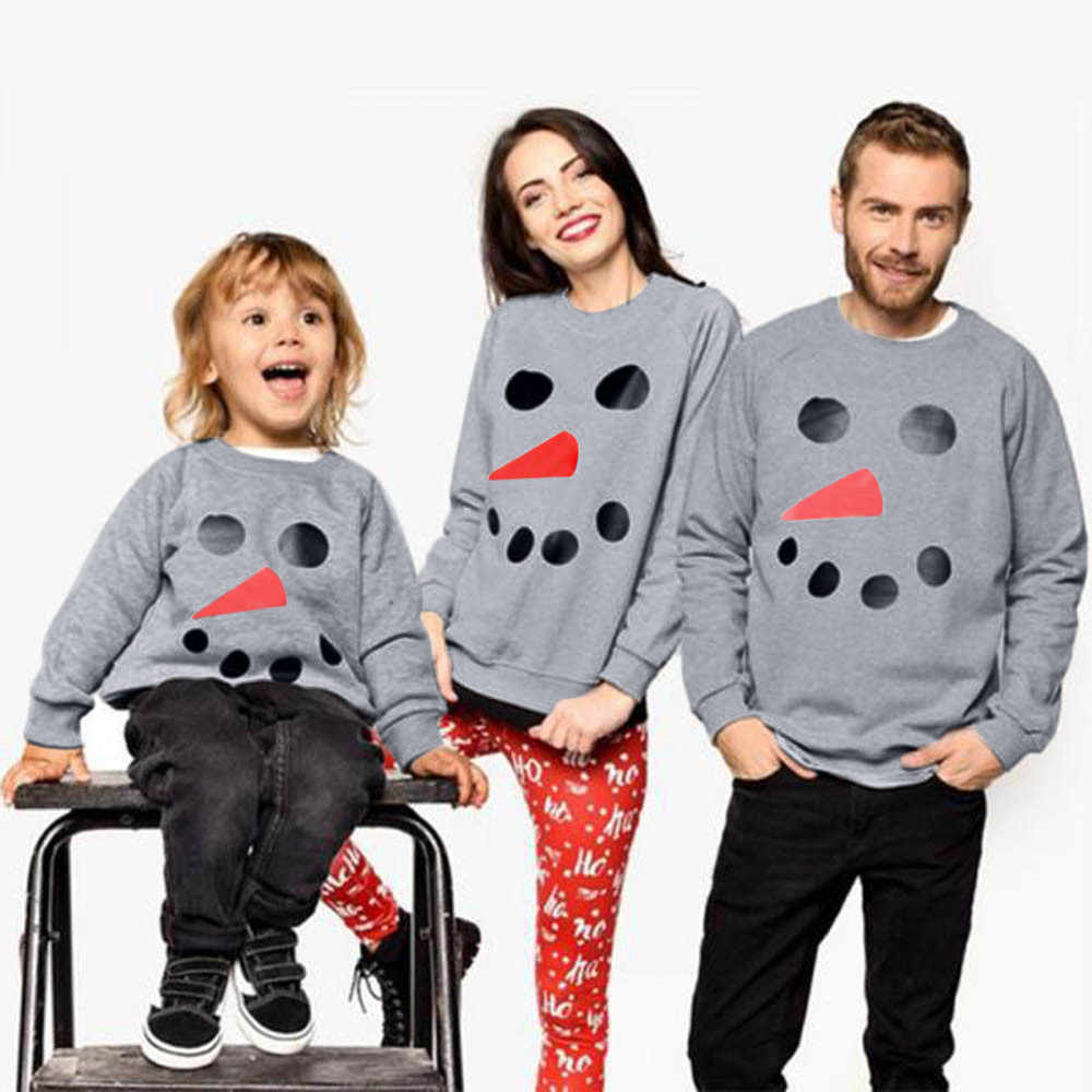 4e4188a01 Detail Feedback Questions about Snowman Pattern Family Outfits Kids ...