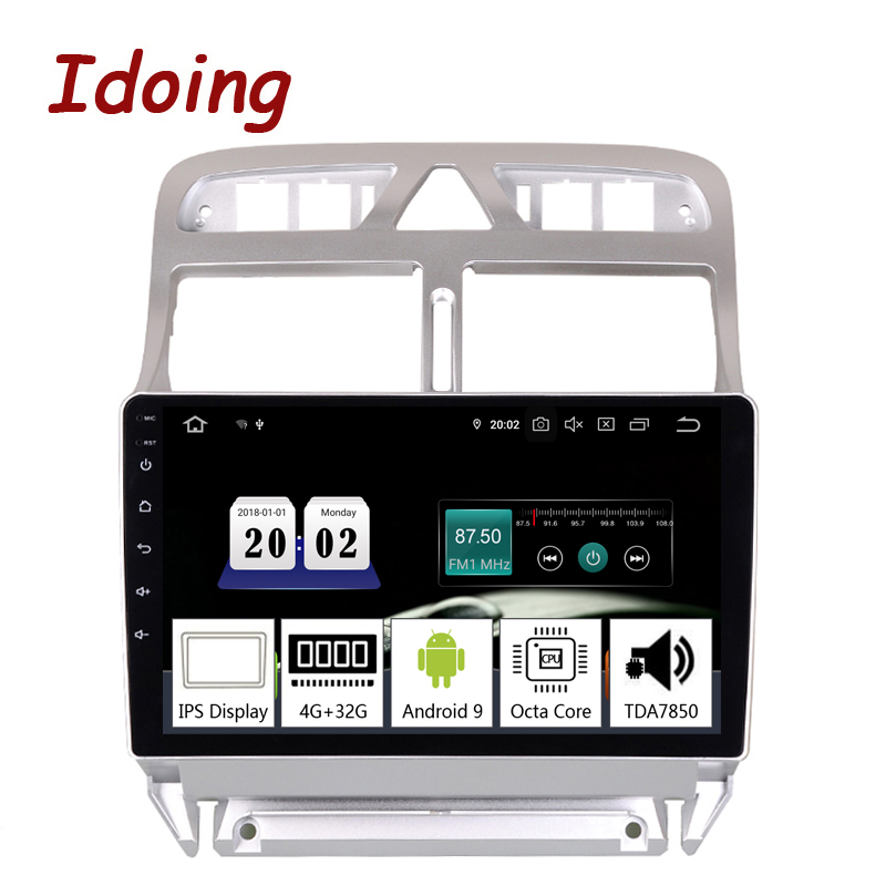 Idoing 9 2.5D Car Android9.0 Multimedia Player For Peugeot 307 307CC 307SW 2002-2013 PX5 4G+64G 8 Core GPS Navigation TDA7850