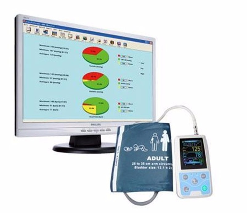 ABPM50 Holter 24 hours Ambulatory Blood Pressure Monitor Holter Digital Household Health Monitor with software USB cable Neonatl 5