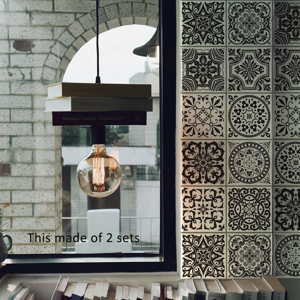KEDODE zwart wit retro Europese stijl tegel tegels plakken badkamer ...