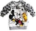 2016 Fashion Cartoon Children Long Sleeve T-shirt Tops Boys Mickey Cotton Tops Kids Stars Print T Shirt Tees Baby Clothing