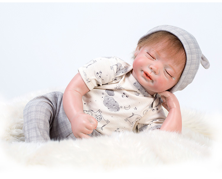 Mini silicone reborn poupées yeux fermés npkdoll bébés doux au toucher réaliste avec des jouets en peluche bebe anniversaire meilleurs cadeaux pour enfant