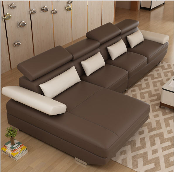 Living Room Sofa set corner sofa couch L shape sectional genuine real leather sectional sofas muebles de sala moveis para casa