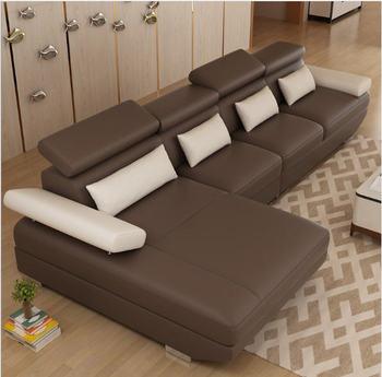 Living Room Sofa set corner sofa couch L shape sectional genuine real leather sectional sofas muebles de sala moveis para casa