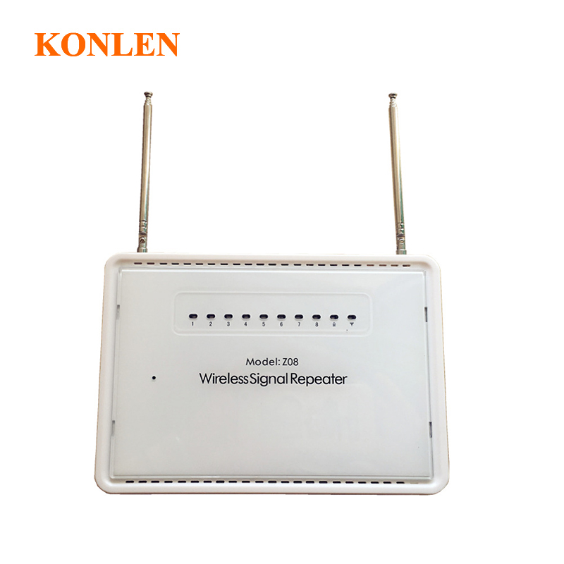 KONLEN RF 433mhz Signal Booster Repeater 800M Wireless Extender Amplifier for Alarm systems 2262 1527 sensors