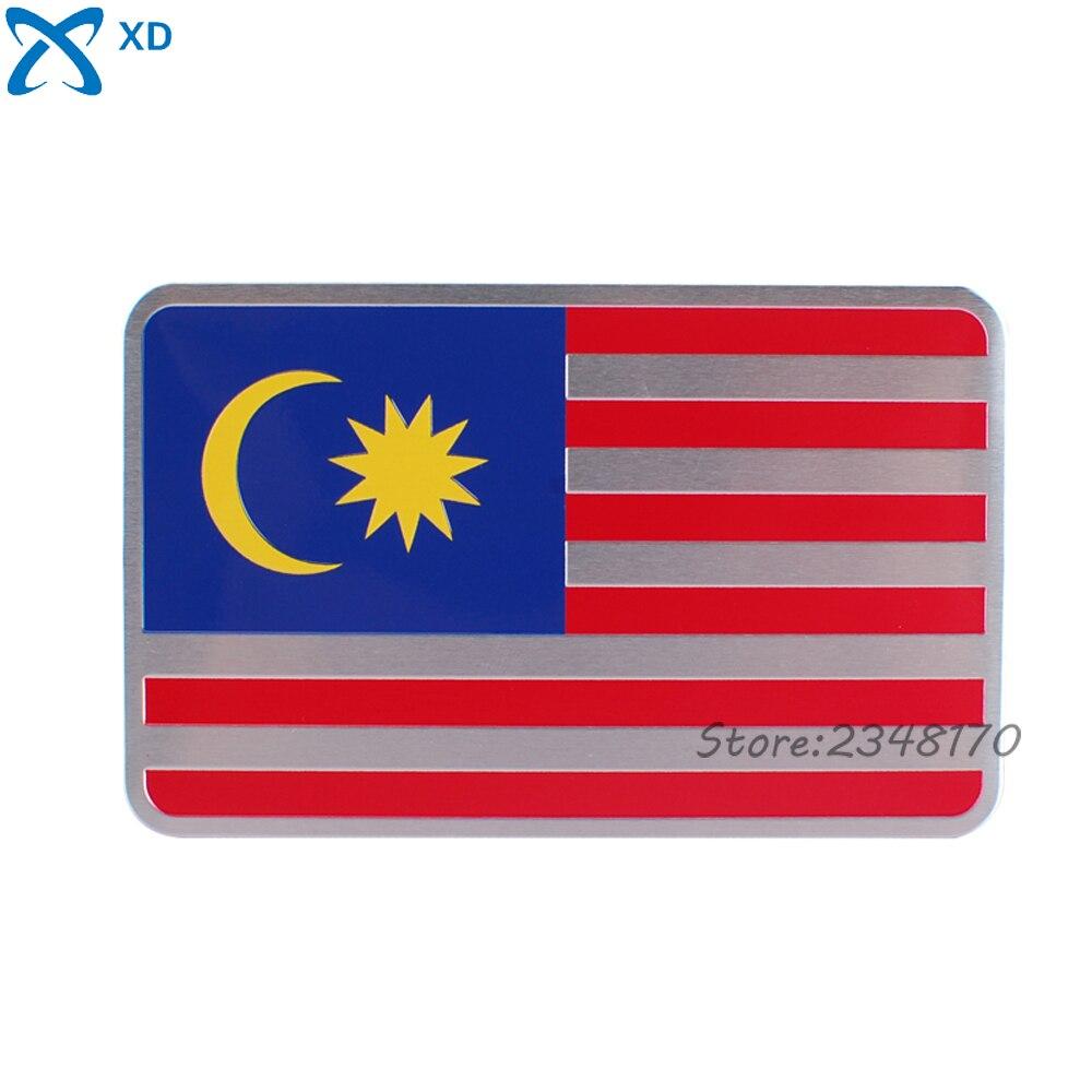 Car sticker design online malaysia - Car Styling Car Sticker Emblem Aluminum Alloy For Malaysia Flag Logo Badge Decal For Mitsubishi Buick