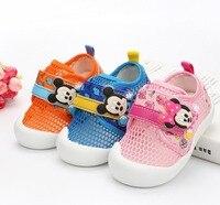 Disney Baby Mesh Shoes Girls Sneakers Autumn 2018 Todder Boys Tenis Infantil Growing Shoes Kinders Casual Sneakers