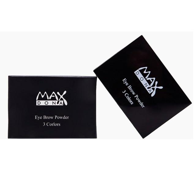 3 Color Eyebrow Powder Palette Cosmetic Brand Eye Brow Enhancer Professional Waterproof Makeup Eye Shadow With Brush Mirror Box 5