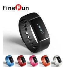 Finefun браслет S55 умный Браслет IP67 Водонепроницаемый Bluetooth 4.0 Шагомер группа здоровья Sleep Monitor smartband для iOS и Android