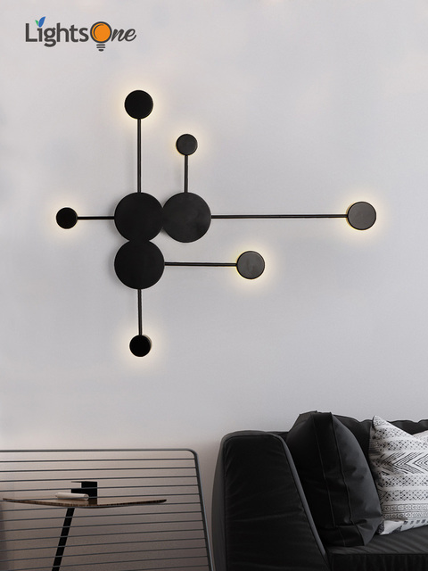 Postmodern Minimalist Art Designer Living Room Decorative Wall Lamp Creative Simple Personality Bedside wall Light