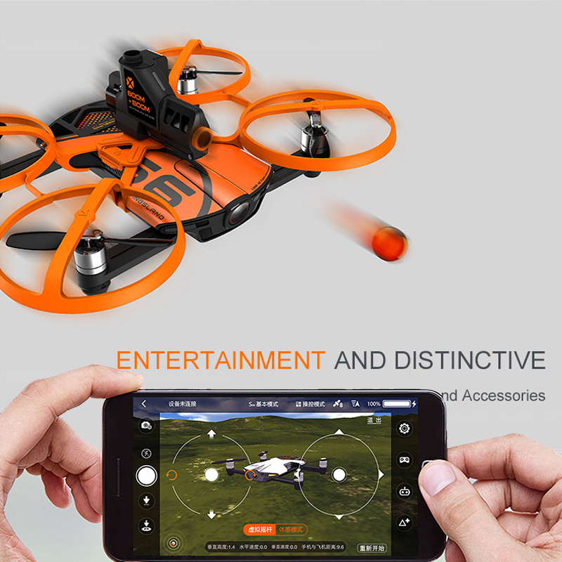 2017 New professional rc Pocket drone S6 Pocket Selfie Quadcopter WiFi FPV With 4K UHD Camera FPV Quadcopter vs dobby breeze jjrc h37 elfie rc quadcopter foldable pocket selfie drone with camera