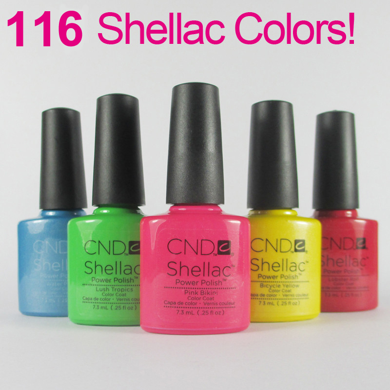 89pcs exus Nail Polish CND Shellac Long-lasting Soak-off Nail LED UV 7.3ml Hot Nail 116 Colors