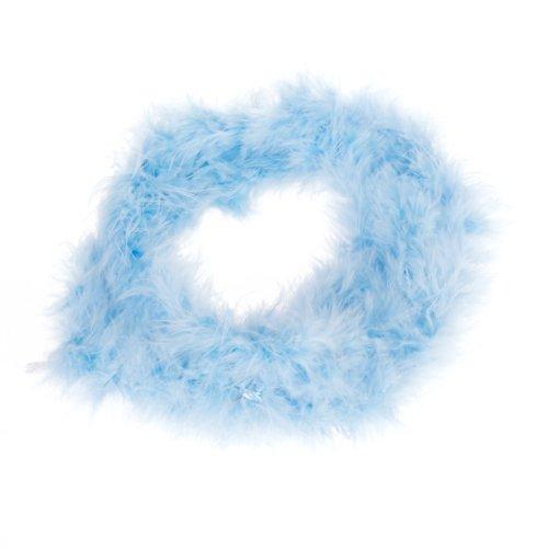 Blue Feather Boa Fluffy Craft Decoration 6.6 Feet Long